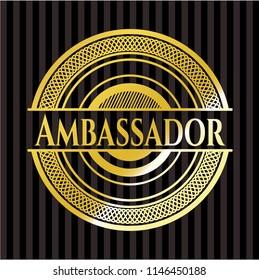 Ambassador golden emblem or badge
