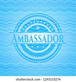 Ambassador water concept badge.