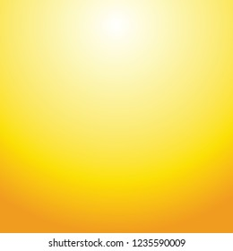 Amber Yellow sun gradient texture background in square illustration in vector.