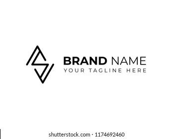 Ambigram A S Monoline Logo