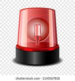 Ambulance alert siren icon. Realistic illustration of ambulance alert siren vector icon for on transparent background