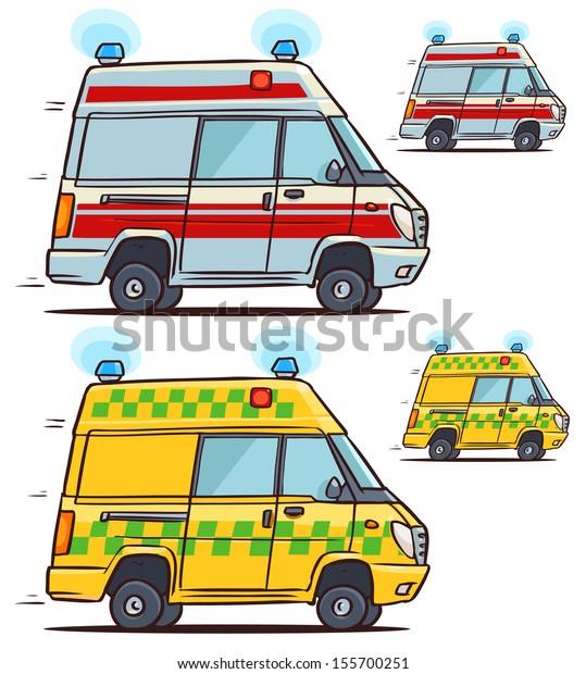 Image Vectorielle De Stock De Voiture D Ambulance Illustration De Dessin Anime 155700251