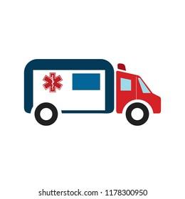 ambulance car - emergency sign - medical illustration