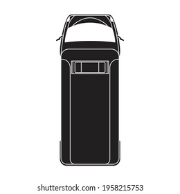 Ambulance car vector black icon. Vector illustration emergency car on white background. Isolated black illustration icon of ambulance emergency.
