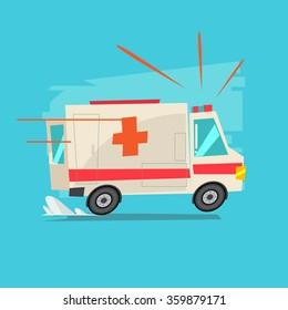ambulance car - vector illustration