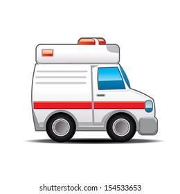 Ambulance cartoon - Illustration