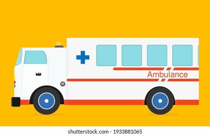 ambulance Emergency care medical service Truck yellow background