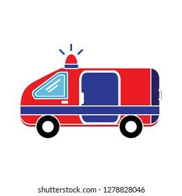 ambulance emergency icon-medical illustration-urgent isolated-siren icon-rescue illustration