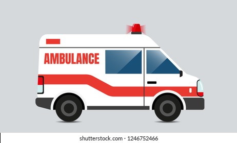 Ambulance emergency vector, isolated