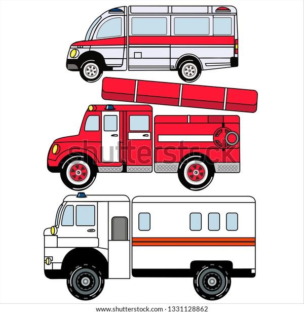 Vector De Stock Libre De Regalías Sobre Ambulance Fire