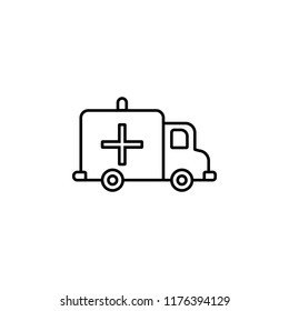 Ambulance icon. Element of blood donation icon for mobile concept and web apps. Thin line Ambulance icon can be used for web and mobile