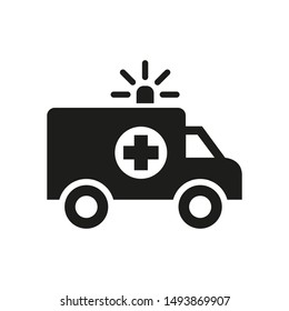 Ambulance icon on white background.