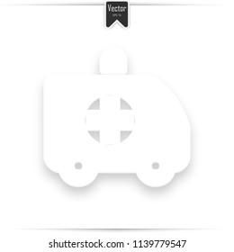 Ambulance Icon. Ambulance symbol. Medical Vehicle icon vector, solid logo illustration, pictogram isolated on white