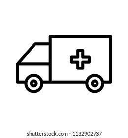 Ambulance Line Icon