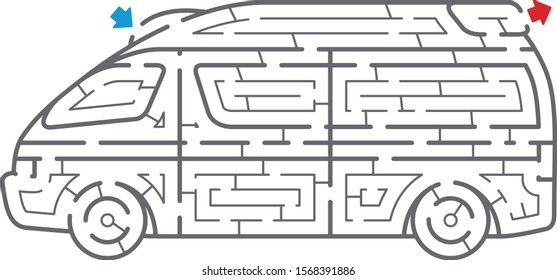 Ambulance maze. It is suitable for brain training.
