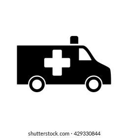 Ambulance Medical Van Icon Black On White Background