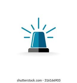 Ambulance or police siren flasher logo