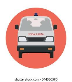Ambulance Van Colored Vector Icon