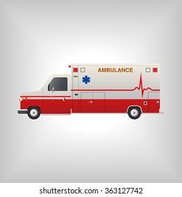 ambulance vector car icon