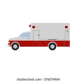 Ambulance vector illustration.