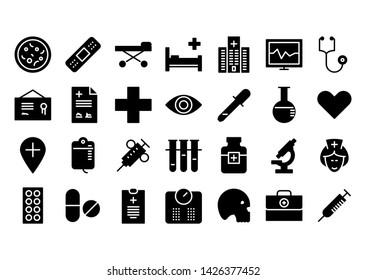ambulante glyph icon symbol set
