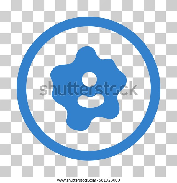 Ameba vector pictograph. Illustration style is a flat iconic cobalt symbol on a transparent background.