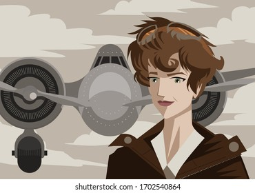 amelia earhart first female aviator