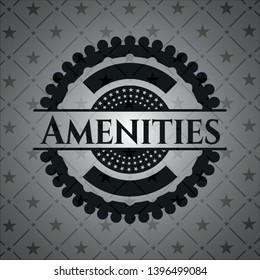 Amenities black badge. Vector Illustration. Detailed.