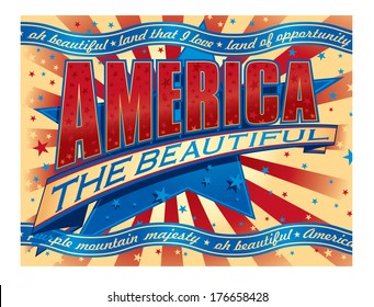 America the Beautiful banner