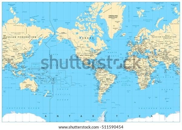 Amerika Hat Sich Auf Die Weltkarte Stock Vektorgrafik Lizenzfrei