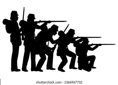 America civil war soldier silhouette vector