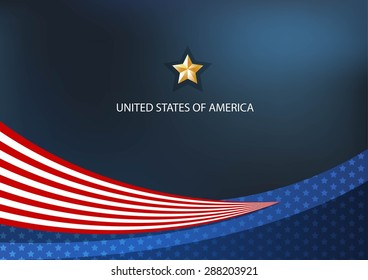 America Independence Vector