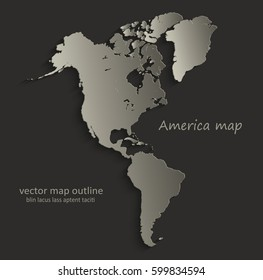 Outline of North and South America Images, Stock Photos ...
