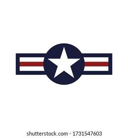 American air force badge. Military symbol. Vector Illustration