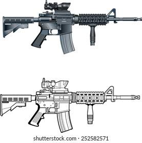 american automatic assault rifle