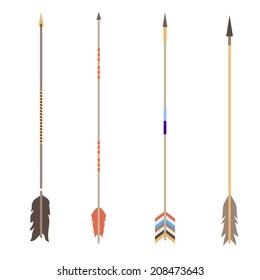 American aztec indian arrows