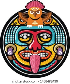 american aztec mayan culture ornament vector