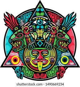 american aztec mayan mexican ornament vector