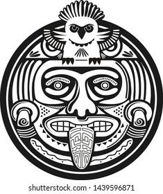 american aztec mayan vector ornament primitive
