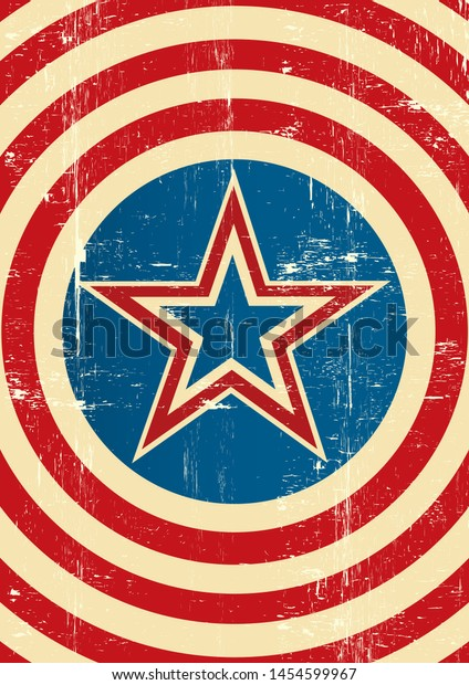 An american background with a star and a grunge texture for your