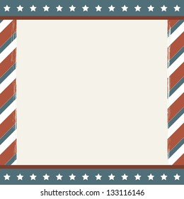 american background with stars, grunge. vector illustration