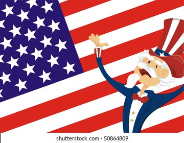 american background with uncle sam