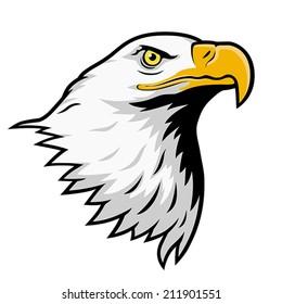 American bald eagle, color version. EPS 8, CMYK