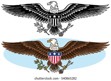 American bald eagle graphic icon