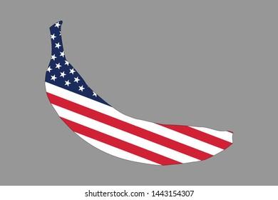 An American banana vector logo