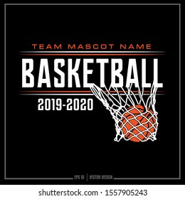 American Basketball sports design. Basketball net, Sports team