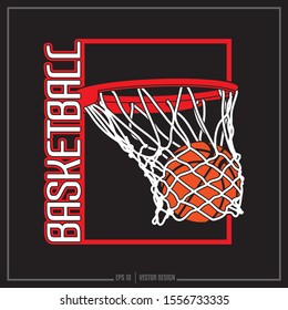 American Basketball team logo, sport design, Basketball net