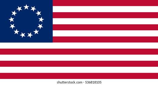 American Betsy Ross FLAG vector