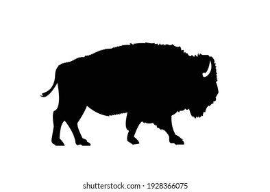 American bison silhouette  Vector EPS 10.