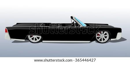 american black car cadillac